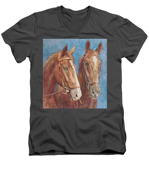 Chestnut Pals Men's V-Neck T-Shirt