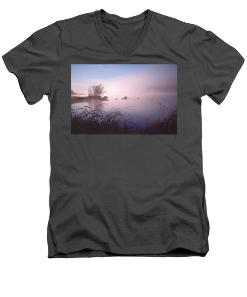 Chippewa River At Dawn Men's V-Neck T-Shirt
