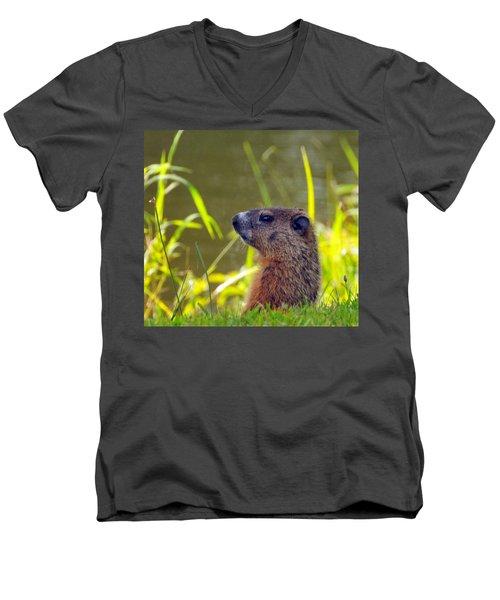 Chucky Woodchuck Men's V-Neck T-Shirt
