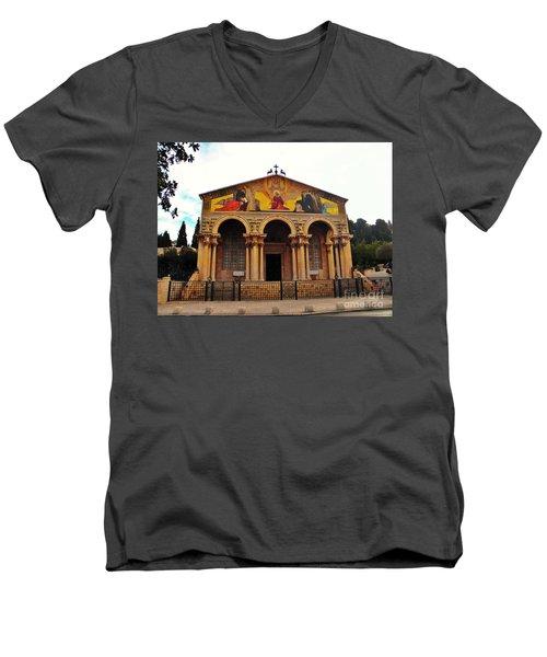 Church Of All Nations  Men's V-Neck T-Shirt