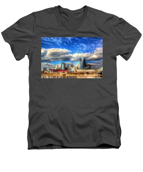 Cincinnati Skyline 2012 - 2 Men's V-Neck T-Shirt