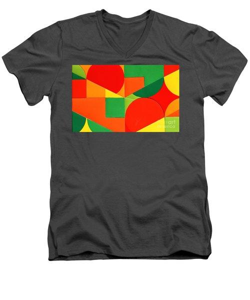 Circles Colorized Men's V-Neck T-Shirt