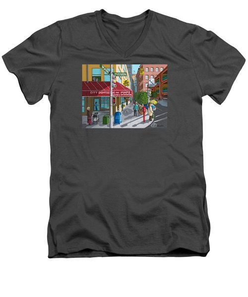 City Corner Men's V-Neck T-Shirt
