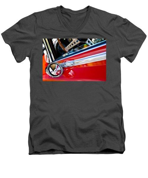 Classic Red Car Artwork Men's V-Neck T-Shirt
