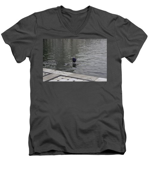 Cleaning The Sarovar In The Golden Temple Men's V-Neck T-Shirt by Ashish Agarwal