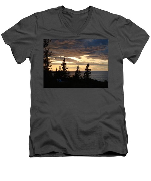 Men's V-Neck T-Shirt featuring the photograph Clearing Sky by Bonfire Photography
