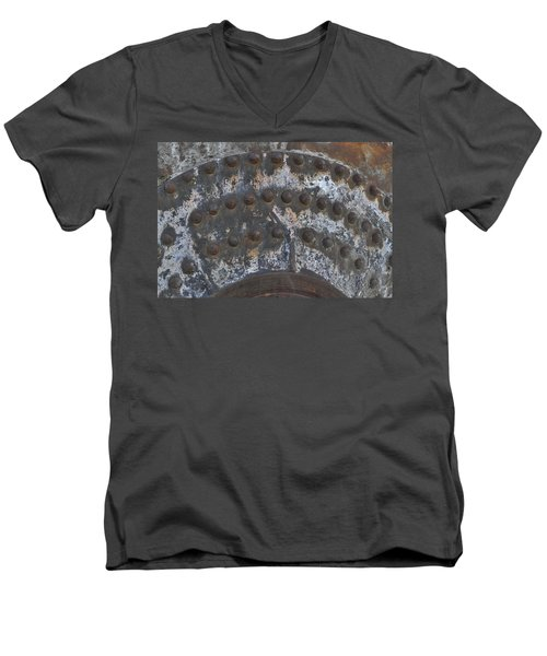 Men's V-Neck T-Shirt featuring the photograph Color Of Steel 7a by Fran Riley