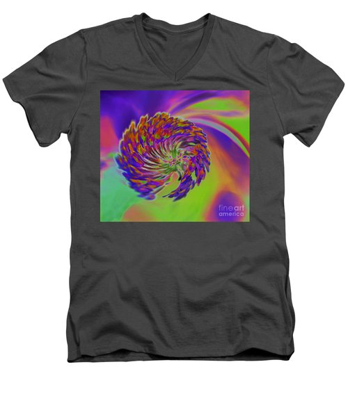 Color Splash Men's V-Neck T-Shirt by Cindy Manero
