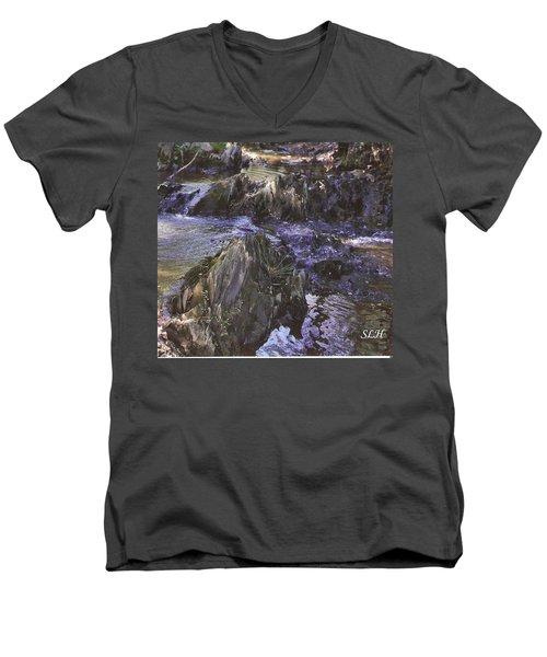 Colors In The Stream Men's V-Neck T-Shirt