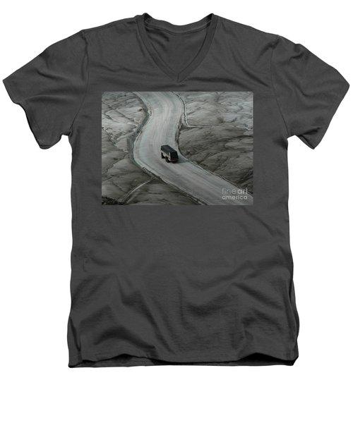 Columbia Icefield Glacier Adventure Men's V-Neck T-Shirt by Laurel Best