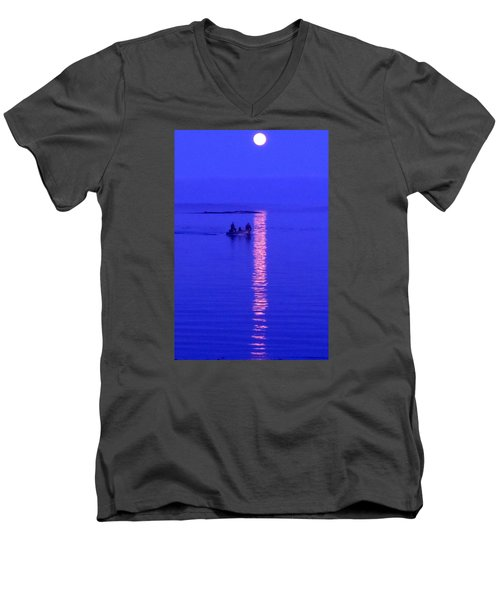 Men's V-Neck T-Shirt featuring the photograph Coming Home by Francine Frank
