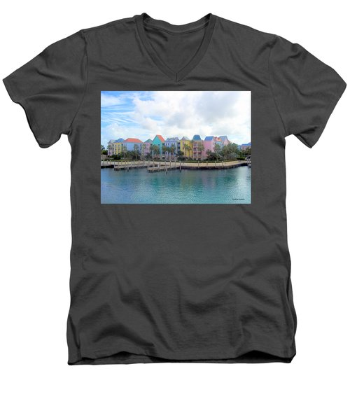 Men's V-Neck T-Shirt featuring the photograph Condo Living by Cynthia Amaral