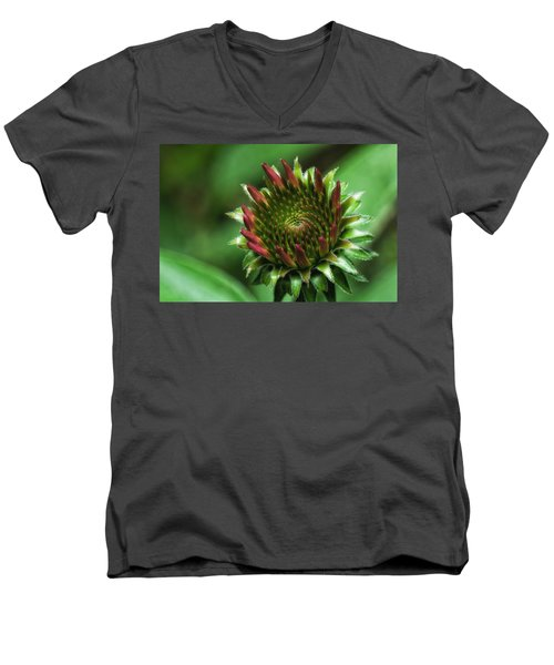 Coneflower Close-up Men's V-Neck T-Shirt