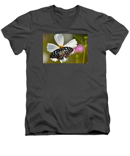 A Study In Contrast Men's V-Neck T-Shirt by Fotosas Photography