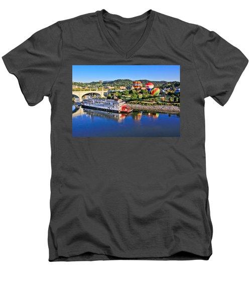 Coolidge Park During River Rocks Men's V-Neck T-Shirt