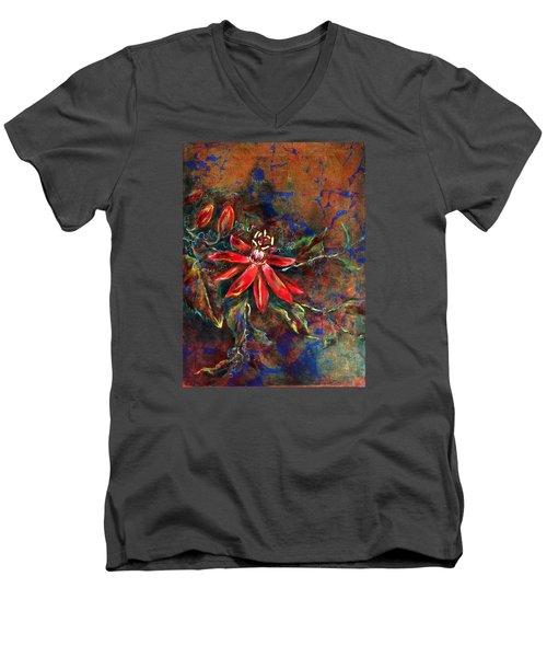 Copper Passions Men's V-Neck T-Shirt by Ashley Kujan