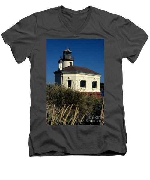 Men's V-Neck T-Shirt featuring the photograph Coquille Light by Sharon Elliott