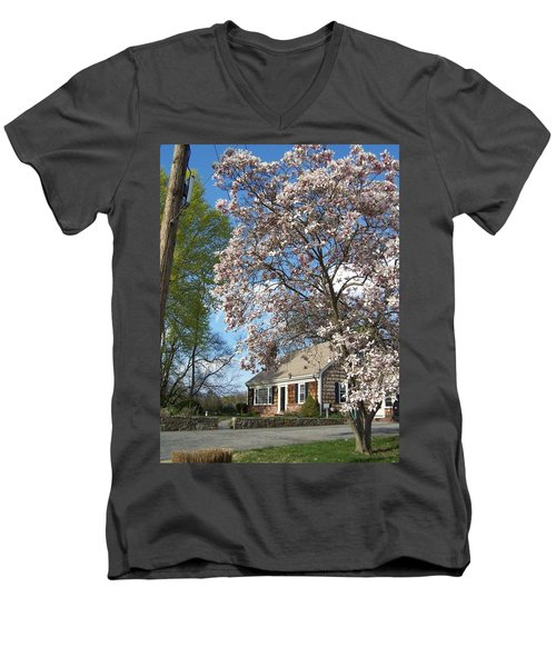 Men's V-Neck T-Shirt featuring the photograph Country Living by Cynthia Amaral