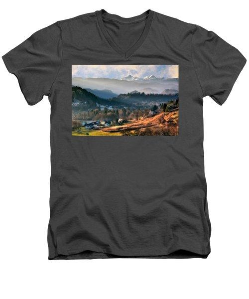Countryside. Slovenia Men's V-Neck T-Shirt
