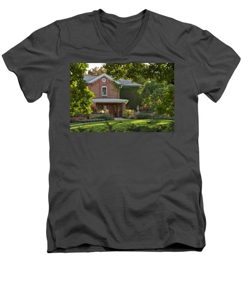 Men's V-Neck T-Shirt featuring the photograph Cowles House by Joseph Yarbrough