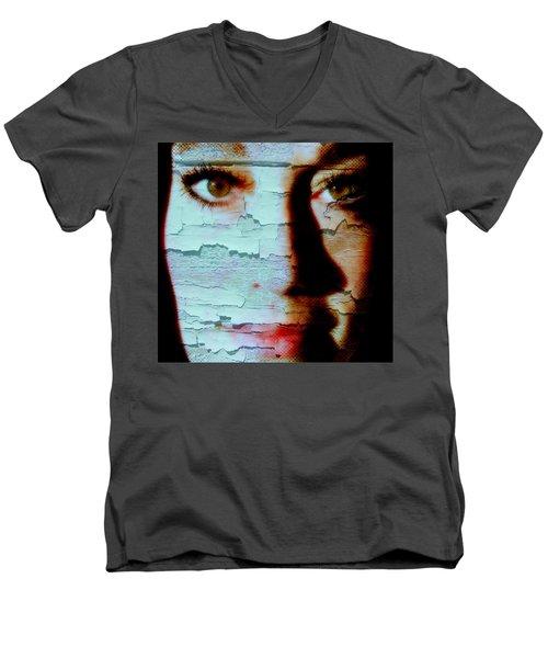Crackled View Men's V-Neck T-Shirt