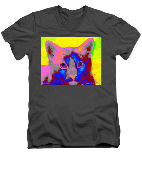 Crayola Cat Men's V-Neck T-Shirt
