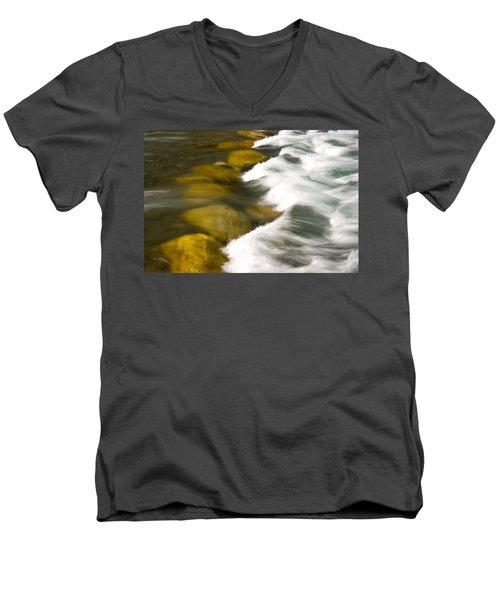 Crossing The Creek Men's V-Neck T-Shirt by Rich Franco