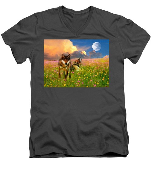 Cry At The Moon Men's V-Neck T-Shirt