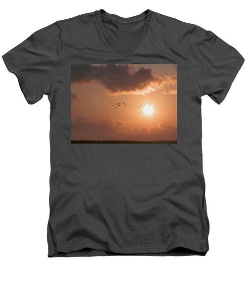 Dawn Flight Men's V-Neck T-Shirt