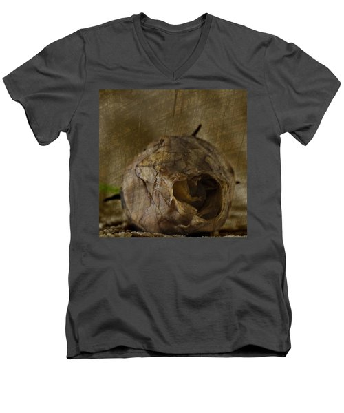 Men's V-Neck T-Shirt featuring the photograph Dead Rosebud by Steve Purnell