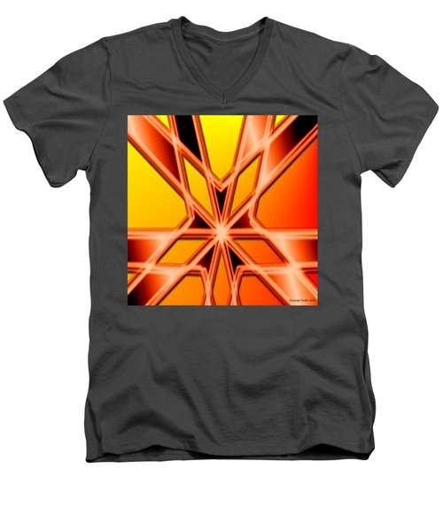 Men's V-Neck T-Shirt featuring the digital art Deep Thought by George Pedro