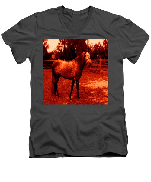 Men's V-Neck T-Shirt featuring the photograph Defiance by George Pedro