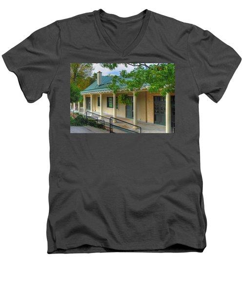 Men's V-Neck T-Shirt featuring the photograph Delaware Park Casino by Michael Frank Jr