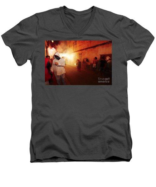 Demons In The Street Men's V-Neck T-Shirt