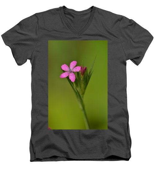 Men's V-Neck T-Shirt featuring the photograph Deptford Pink by JD Grimes