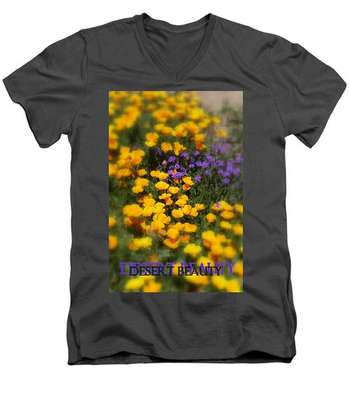 Men's V-Neck T-Shirt featuring the photograph Desert Beauty by Carla Parris