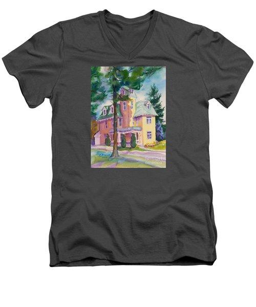 Dewey-radke Glowing Men's V-Neck T-Shirt by Kathy Braud