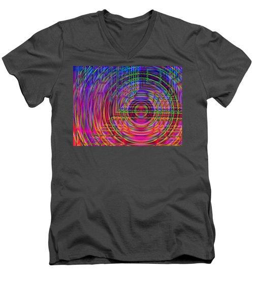 Men's V-Neck T-Shirt featuring the digital art Digets by David Pantuso