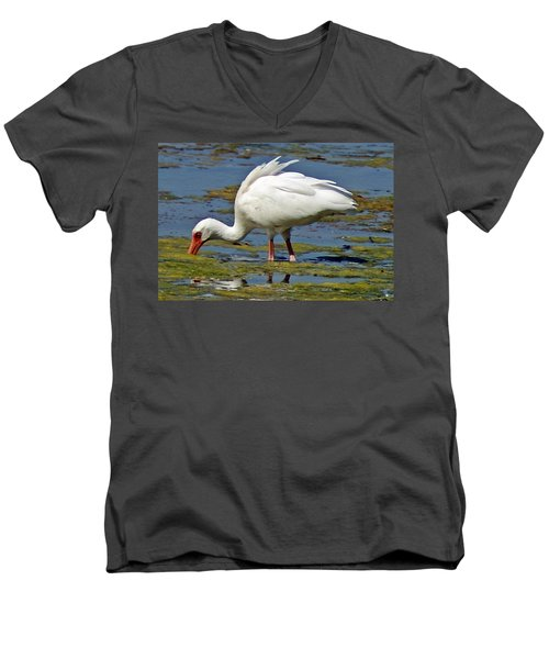 Dinnertime Men's V-Neck T-Shirt by Joe Faherty