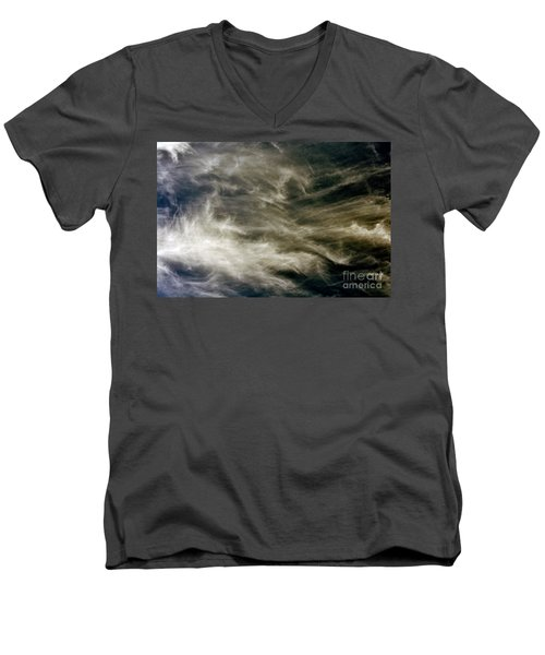 Men's V-Neck T-Shirt featuring the photograph Dirty Clouds by Clayton Bruster