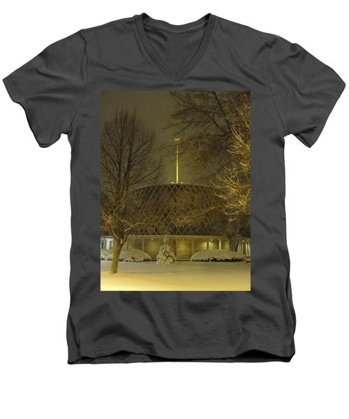Men's V-Neck T-Shirt featuring the photograph Dorcas Chapel by Tiffany Erdman