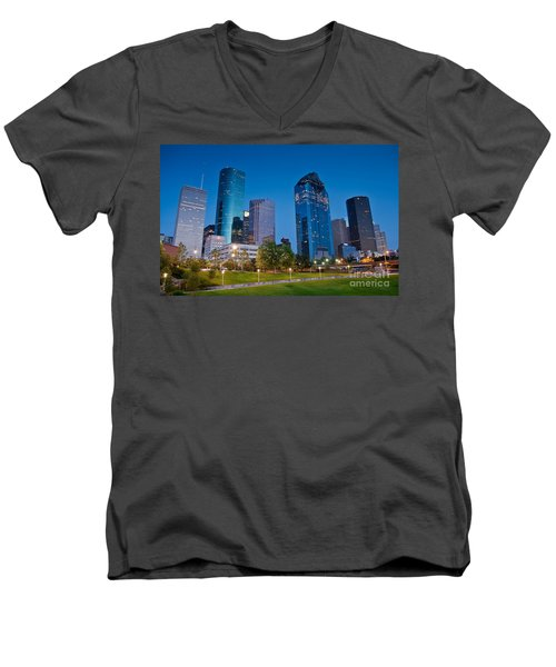 Downtown Houston Men's V-Neck T-Shirt