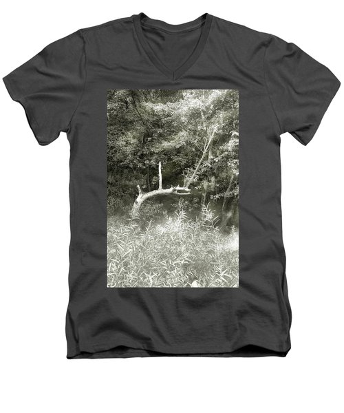 Men's V-Neck T-Shirt featuring the photograph Dragon Bones by Mary Almond