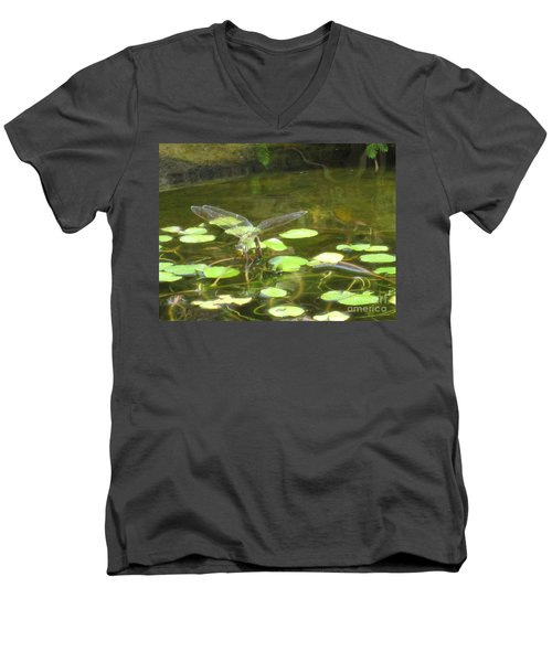 Dragonfly Men's V-Neck T-Shirt by Laurianna Taylor