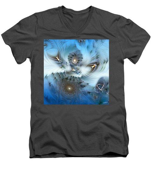 Men's V-Neck T-Shirt featuring the digital art Dream Journey by Casey Kotas