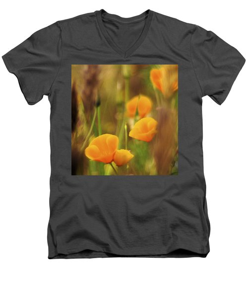 Dream Poppies Men's V-Neck T-Shirt