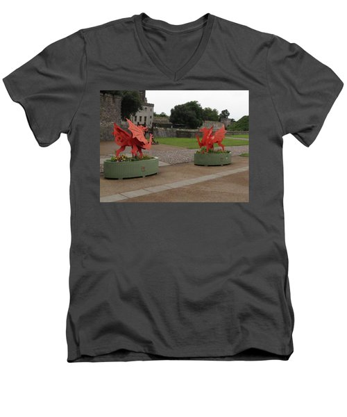 Dueling Dragons Men's V-Neck T-Shirt