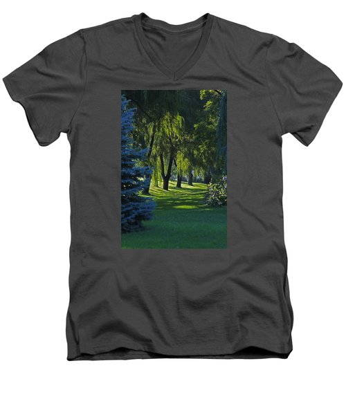 Men's V-Neck T-Shirt featuring the photograph Early Morning by John Stuart Webbstock