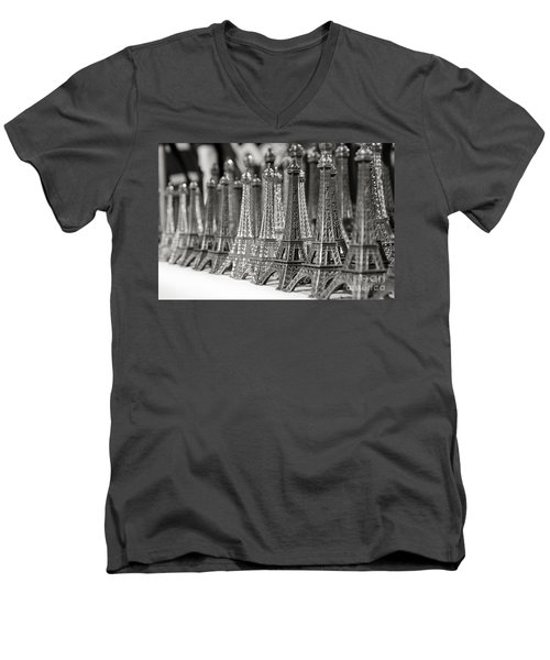 Eiffel Tower Miniature Men's V-Neck T-Shirt