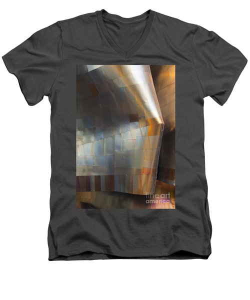 Emp Abstract Fold Men's V-Neck T-Shirt